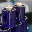 Stock Photo: Two burning candles