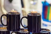 Two burning candles — Stock Photo