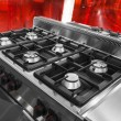 Modern gas hob — Stock Photo
