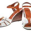Stock Photo: Pair of female sandals