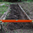 Excavation work on farm — Stock Photo #19570089