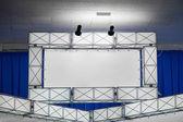 Stand banner mit lightbox — Stockfoto