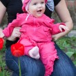Baby in a pink dress — Stock Photo