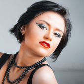 мода портрет молодая красивая женщина — Стоковое фото