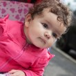 Portrait of baby girl outdoors — Stock Photo