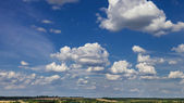 Blue sky with white clouds — Стоковое фото
