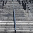 Concrete staircase with iron railings — Stock Photo