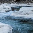 Mountain river in winter — Stock Photo #38442075