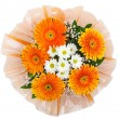 Bouquet of chrysanthemums and gerberas — Stock Photo