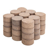 Peat briquettes for growing seedlings — Stock Photo