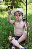 年轻的渔夫 — 图库照片