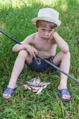 Young fisherman — Stock Photo