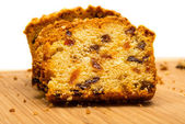 Cake with raisins — Stock Photo