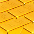 Gold ingots — Stock Photo