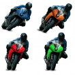 Motorcycle racers — Stock Photo #19262775