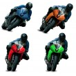 Motorcycle racers - Stock Photo