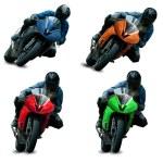 Motorcycle racers — Stock Photo
