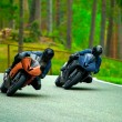 Stock Photo: Motorcycle racing
