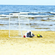 Summertime on the beach - Stock Photo
