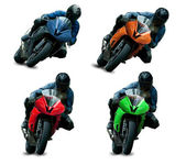 Motorcycle racers — Stock Photo