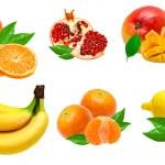 Fruits isolated on white background — Stock Photo