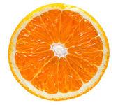 Laranja isolada no fundo branco — Fotografia Stock