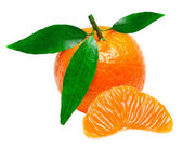 Mandarin isolated on white background — Stock Photo