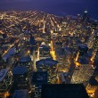 Chicago at night - Stockfoto