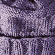 Purple Handmade Knit Texture — Stock fotografie