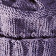 Purple Handmade Knit Texture — Stock Photo