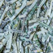 Shredded US Currency — Stockfoto