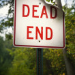 DEAD END SIGN — Stockfoto