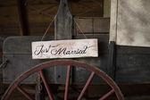 Wagon juste marié — Photo