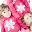 Sisters in Matching Winter Outfits — Photo