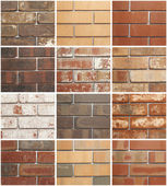Twelve Brick Variations — Stock Photo