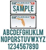 License Plate Florida — Stock Vector