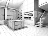 Tel kafes mutfak — Stok fotoğraf