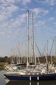 Segelboot-masten — Stockfoto