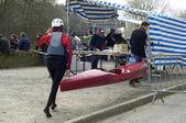 Gara di canoa kayak — Foto Stock