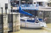 Port Meschers in july — Stock Photo