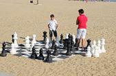 Giant chess — Stock Photo