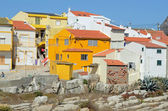 Yellow house in the village — Photo