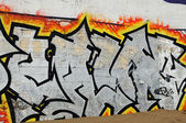 Tags on a wall — Stock Photo