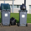 Garbage bins with — Stock Photo