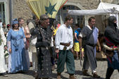 Parade of characters during the medieval festival — Stock Photo