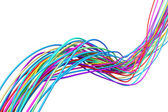 3d wallpaper wires — Stock Photo
