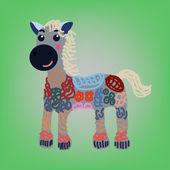 Cartoon Draw Horse — Vecteur