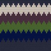 Seamless pattern di maglia — Vettoriale Stock