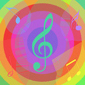 Abstract Music Background. Vector — Stock Vector