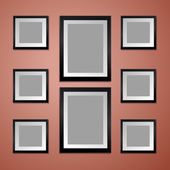 Colorful Wall with empty Picture Frame — Stockvektor